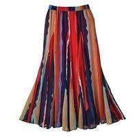 Women's Maxi Skirt - Starfire Stripe Georgette Skirt - Elastic Waistband