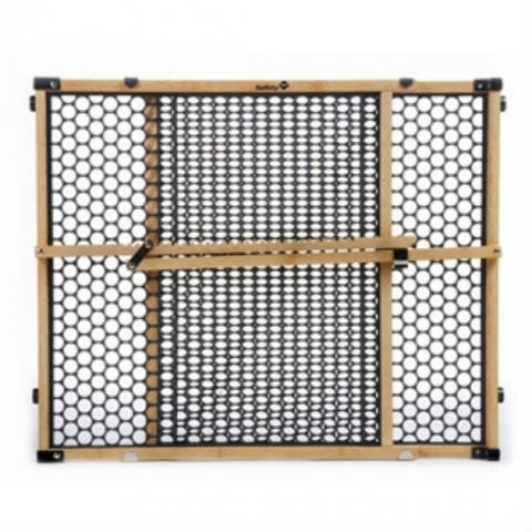 """Safety 1St GA035 Adjustable Bamboo Security Gate, 24"""" Tall"""