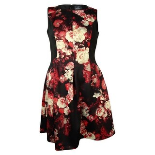 Adrianna Papell Women's Floral Snake Neoprene Dress - 12