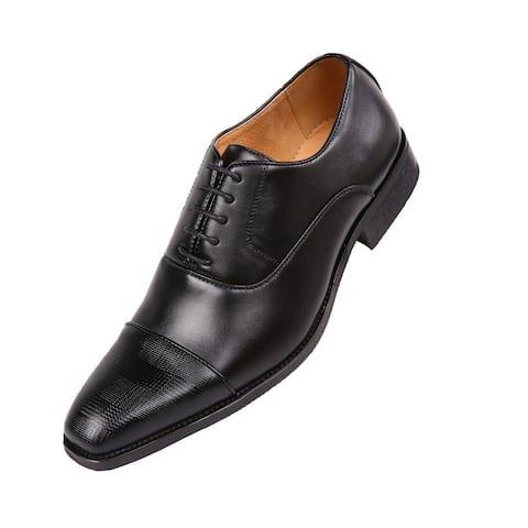 Amali Men's Smooth Cap Toe Oxford Dress Shoes