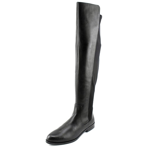 b1ce7fd0c72 Clarks Narrative Bizzy Girl Women Round Toe Leather Black Over the Knee Boot