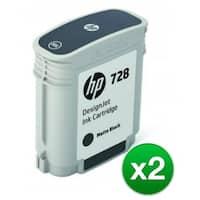 HP 728 130-ml Matte Black DesignJet Ink Cartridge (F9J64A)(2-Pack)