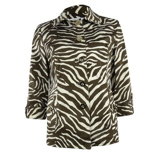 Charter Club Women's Zebra Cotton Blend Jacket