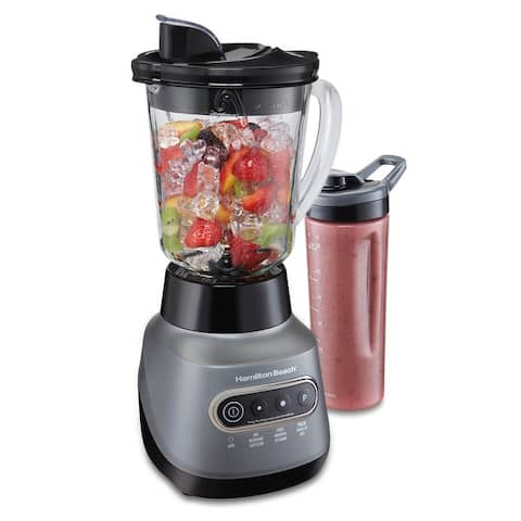 Hamilton Beach Wave Crusher Blender with 20 Oz. Travel Jar