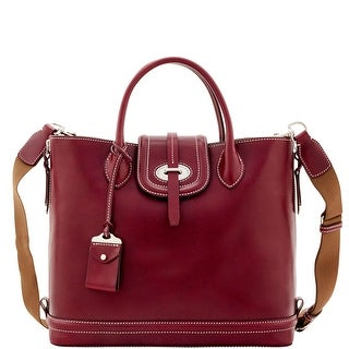 Dooney & Bourke Florentine Toscana Side Zip Tote (Introduced by Dooney & Bourke at $568 in Sep 2016) - Bordeaux
