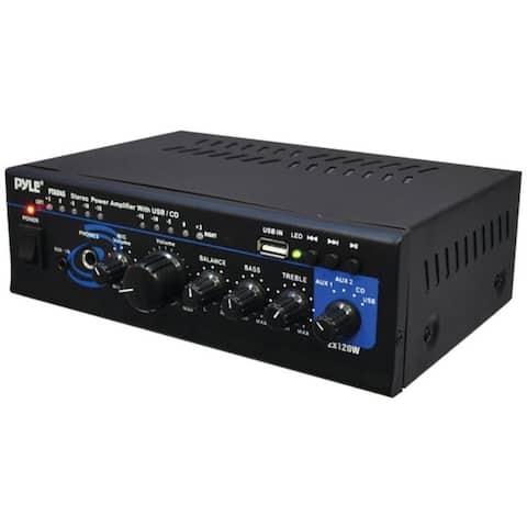 120-Watt x 2 Stereo Power Amp with USB Reader