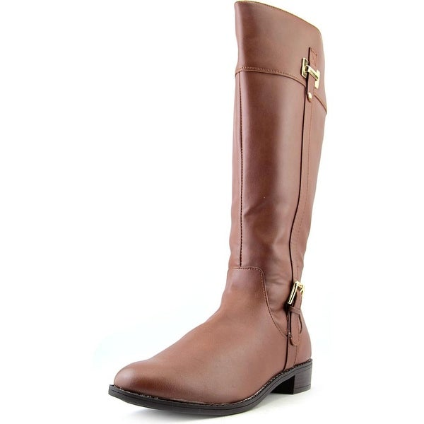Karen Scott Deliee Women Round Toe Synthetic Brown Knee High Boot