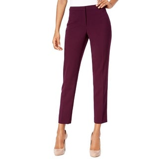 Calvin Klein NEW Purple Womens 12P Petite Highline Straight Dress Pants