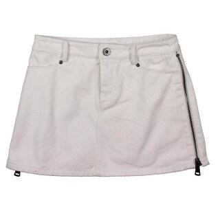 Catherine Malandrino Womens Zipper Trim Mini Denim Skirt - 4