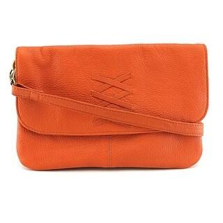 Latico Meredith Leather Messenger - Orange