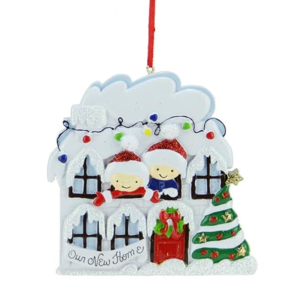 """4.5"""" Multi-Colored """"Our New Home"""" Decorative Christmas Ornament"""