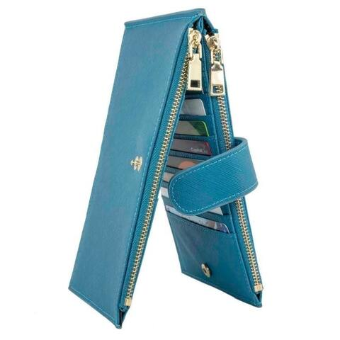 Rfid Blocking Bifold Multi Card Case Wallet- Genuine Leather