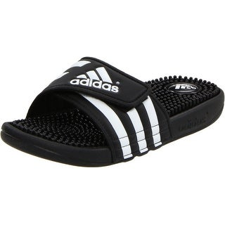 adidas Performance Women's Adissage W Athletic Sandal - black/black/white - 9 b(m) us