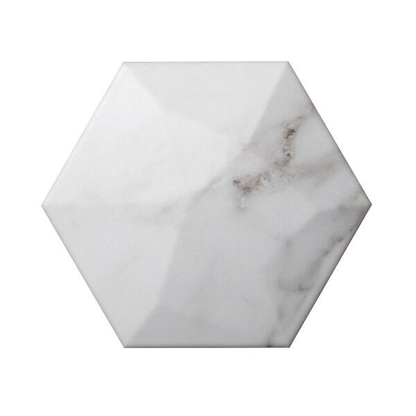 "Emser Tile W10CODH0607HX Code - 5-7/8"" x 6-7/8"" Hexagon Floor and Wall Tile - Matte Stone Visual"