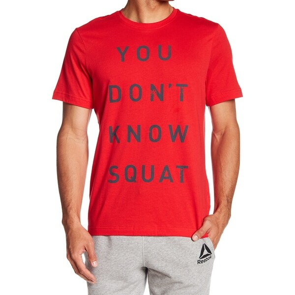 df0e6e5fc Shop Reebok Red Mens Size Small S You Don't Know Squat Graphic Tee T ...