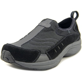 Easy Spirit Walk Trip Women Round Toe Suede Black Walking Shoe