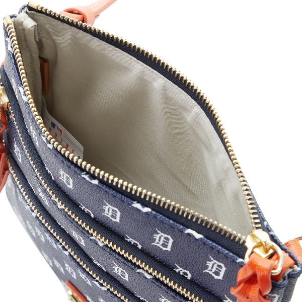 Dooney /& Bourke MLB Detroit Tigers Triple Zip Crossbody Shoulder Bag