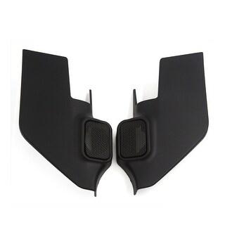 2 Pcs 4.5 x 4cm Mesh Black Car Horn Dustproof Cover for 2013 Nissan Tiida