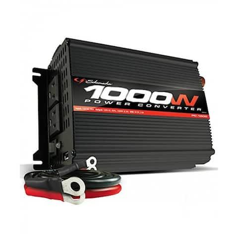 Schumacher PC-1000 Continuous Power Inverter, 1000 Watts, Black