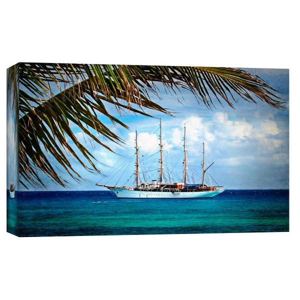 """PTM Images 9-101700 PTM Canvas Collection 8"""" x 10"""" - """"Turquoise Adrift"""" Giclee Ships Art Print on Canvas"""