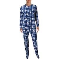 Hello Kitty Womens Lovely Dreamer One-Piece Pajamas Fleece Printed
