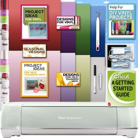 Cricut Explore Air 2 Machine Bundle-Ironon Foil 12X12 In. Pk Weeder Design Guide