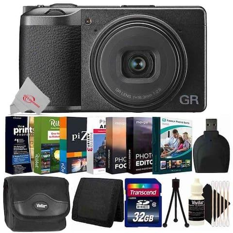 Ricoh GR III Digital Camera + Editing Software Bundle