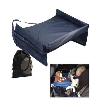 JAVOedge Foldable Lap Table for Children, Perfect for Car Rides with Side Storage Pocket - Black