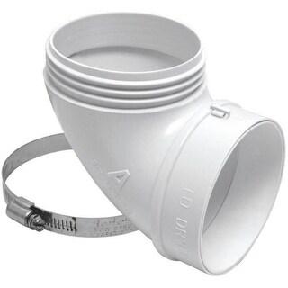Lambro 3003L Plastic Dryer Vent Elbow Kit, White