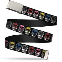 Blank Chrome  Buckle Power Rangers Chibi Webbing Web Belt - S