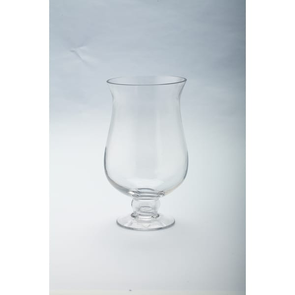 "8"" Handblown Glass Hurricane Votive Candle Holder - N/A"