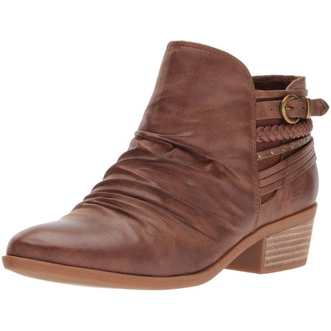 Bare Traps Womens Guenna Almond Toe Ankle Cowboy Boots
