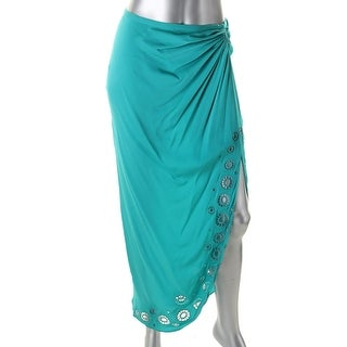 Catherine Malandrino Womens Silk Cut-Out Straight Skirt - S