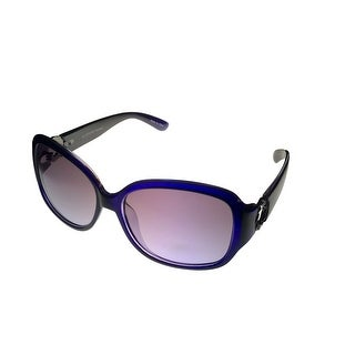 Jill Stuart Womens Sunglass 1041 2 Dk Purple Rectangle Plastic, Gradient Lens - Medium