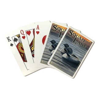 Squam Lake, New Hampshire - Loon Scene - Lantern Press Artwork (Playing Card Deck - 52 Card Poker Size with Jokers)