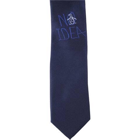 Penguin Mens No Idea Self-tied Necktie, blue, One Size - One Size