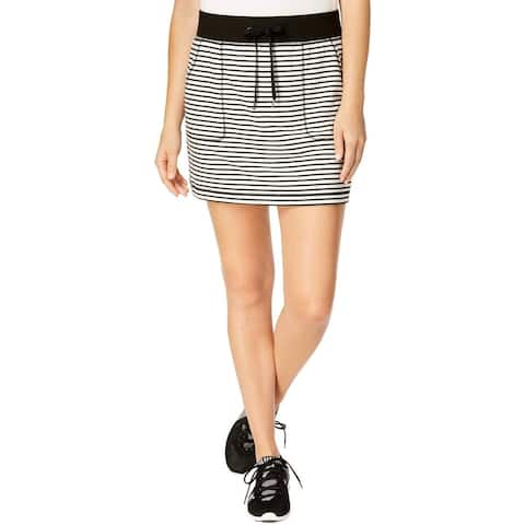 Ideology Women's Fitness Striped Short Skirt, XXL