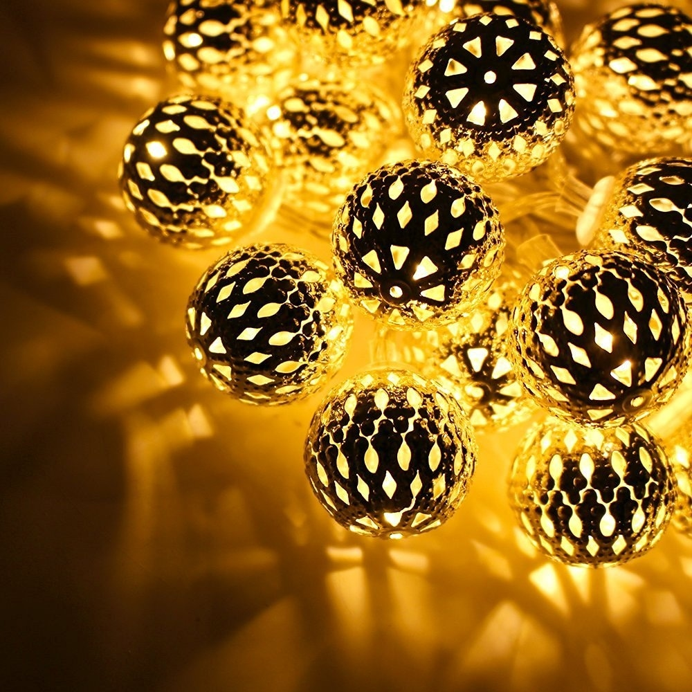 10ft Hollow Ball Battery Operated Led