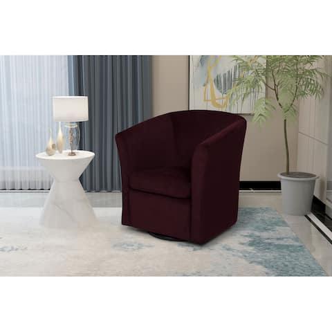 Lana Upholstered Swivel Armchair