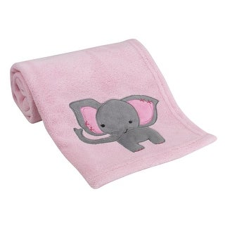 Link to Bedtime Originals Twinkle Toes Soft Pink Coral Fleece Elephant Baby Blanket Similar Items in Baby Blankets