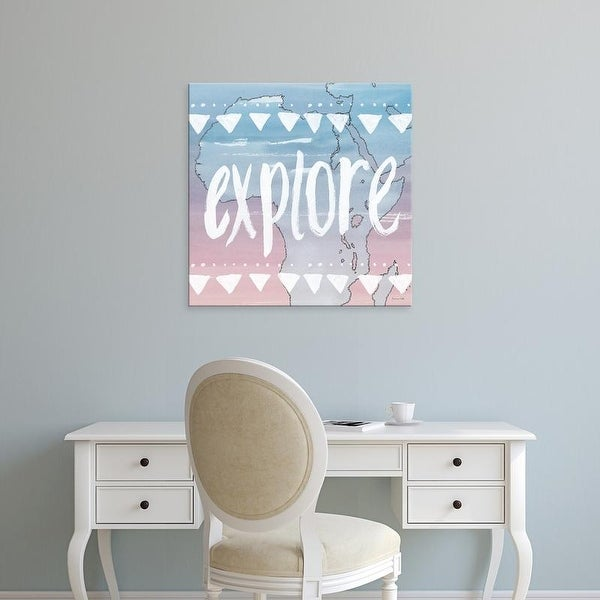 Easy Art Prints Sara Zieve Miller's 'World Traveler Explore' Premium Canvas Art