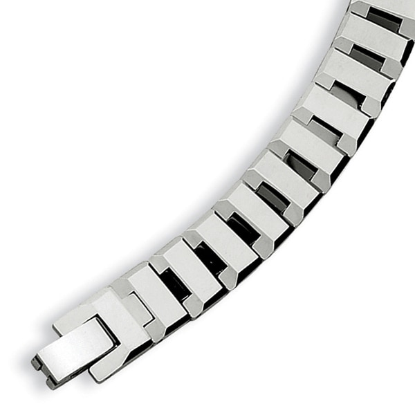 Chisel Polished Tungsten Carbide Bracelet - 8.75 Inches