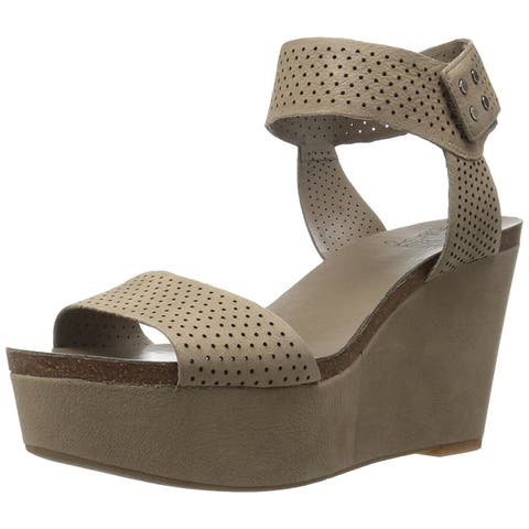 bd4a733b3d4a Vince Camuto Womens Valamie Leather Open Toe Casual Platform Sandals