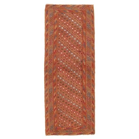 ECARPETGALLERY Hand-knotted Tajik Caucasian Tan Wool Rug - 2'5 x 6'4