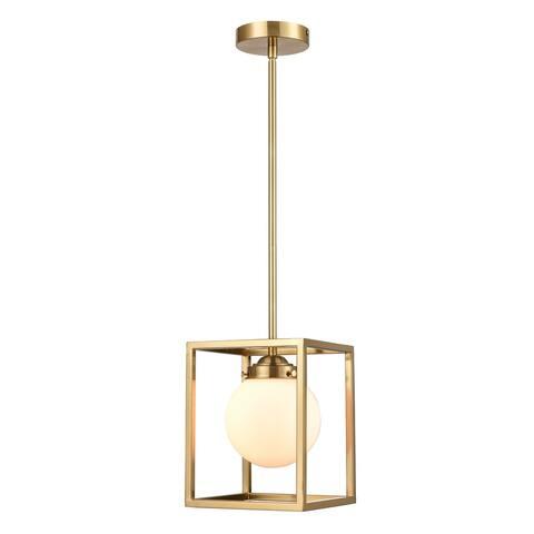 Light Society Rafael Pendant Light - Brushed Brass/White
