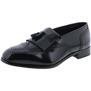Florsheim Mens Lexington Leather Brogue Tassel Loafers - 9 extra wide (eee)