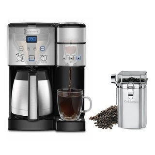Link to Cuisinart 10-Cup Thermal Single-Serve Brewer Coffeemaker and Canister Similar Items in Kitchen Appliances