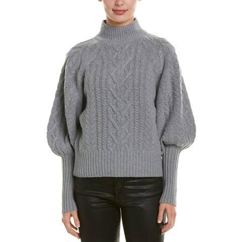 Bcbgmaxazria Dolman Wool-Blend Sweater - HEATHER GREY