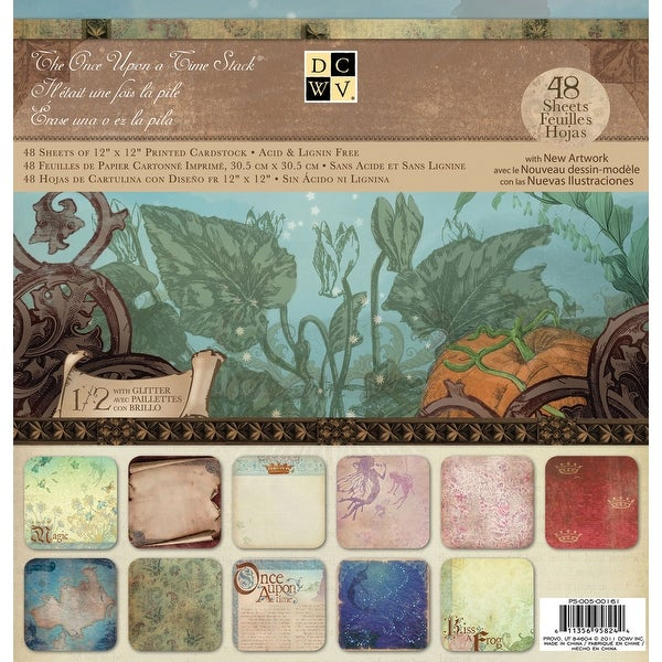 "Dcwv Paper Stack 12""X12"" 48/Pkg-Once Upon A Time 2, 24 Designs/2 Each"