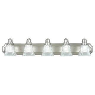 Sunset Lighting F3575 5 Light 500 Watt Bathroom Vanity Light - satin nickel